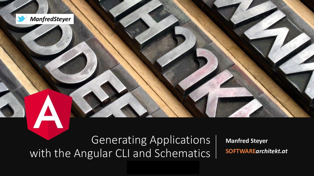 Generating Applications with the Angular CLI and Schematics