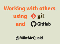 Working with others using Git and GitHub slides thumbnail