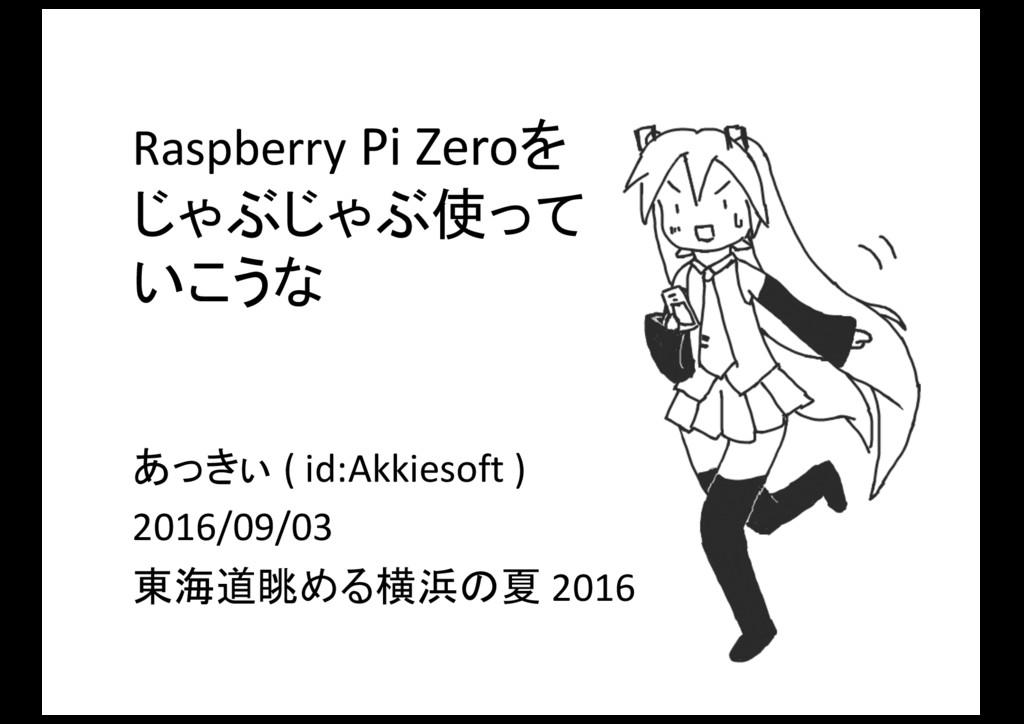 Raspberry Pi Zeroをじゃぶじゃぶ使っていこうな/20160903-tokaido-lug-rpi