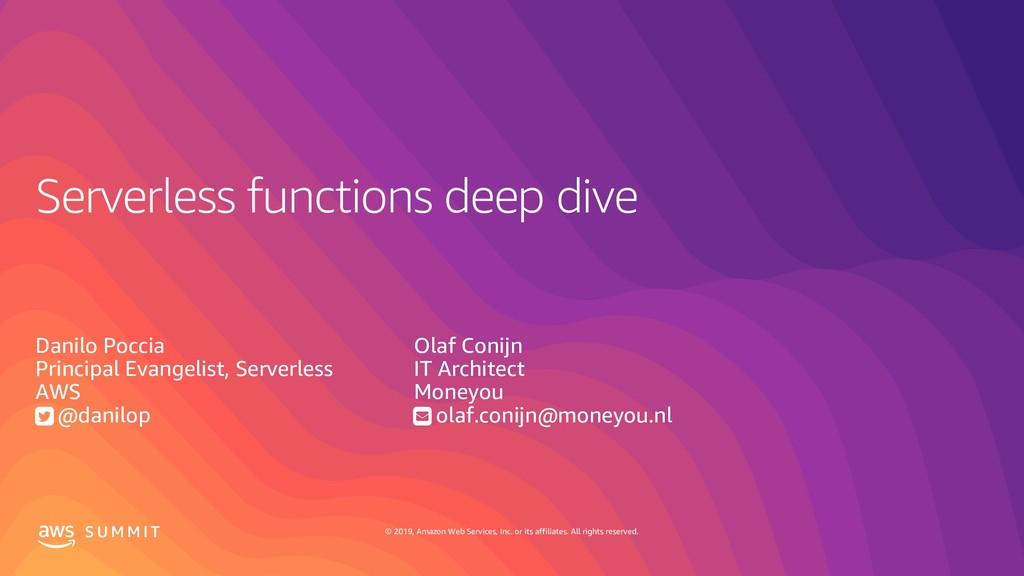 Serverless functions deep dive