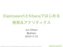 ElasticsearchとKibanaではじめる検索&アナリティクス
