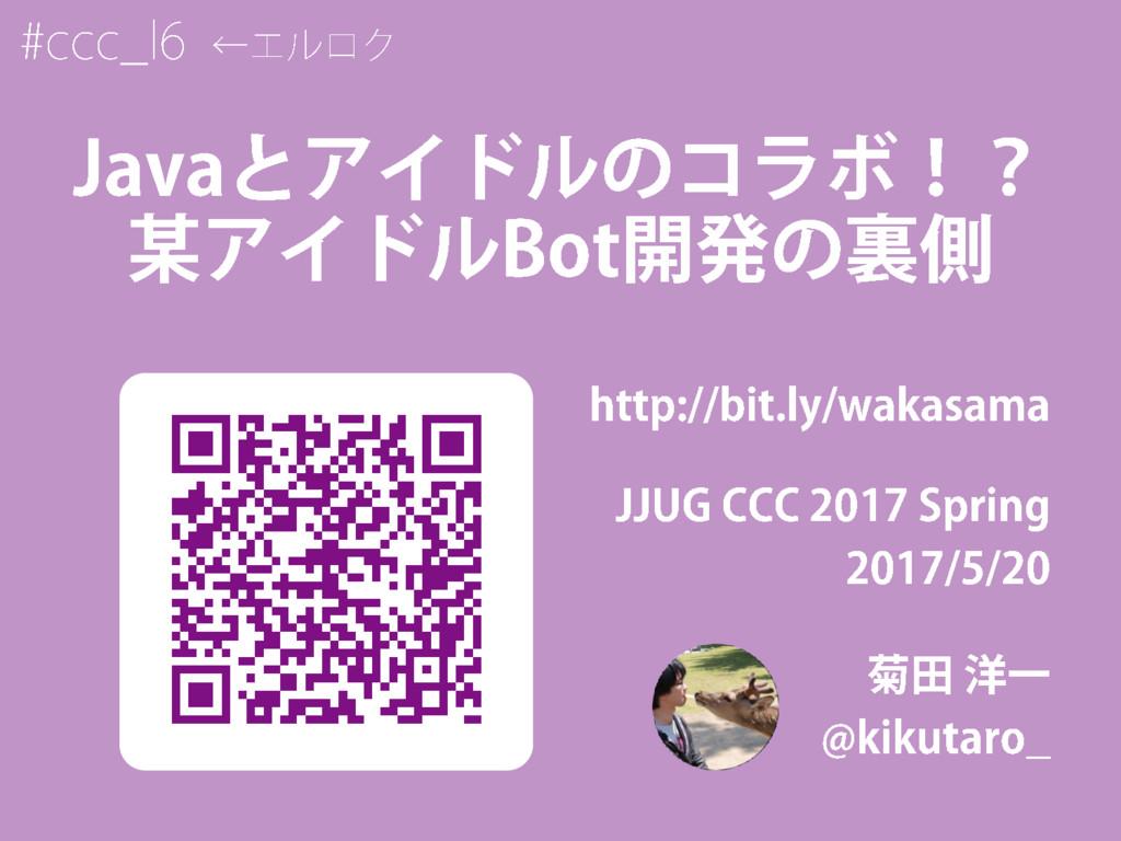 Javaとアイドルのコラボ!?某アイドルBot開発の裏側