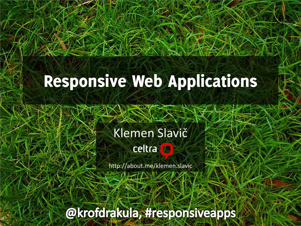 Responsive Web Applications title screen
