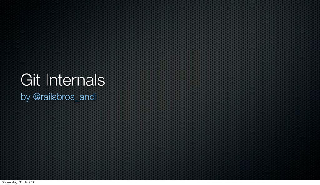 Git Internals slides