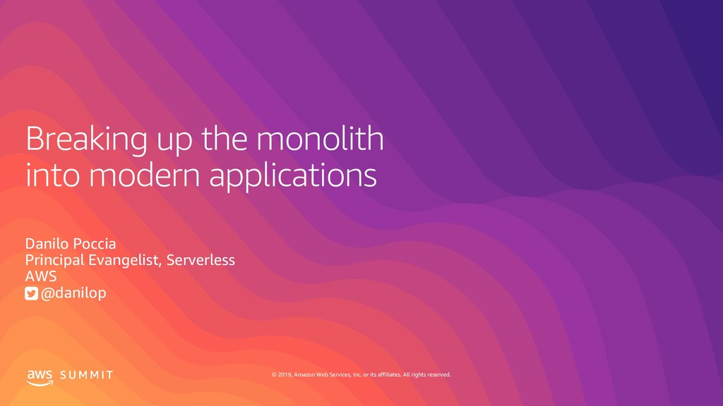 Breaking up the monolith into modern applications