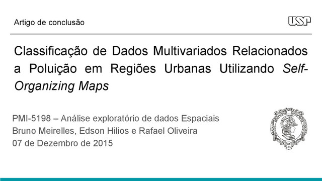 Classificação de Dados com Self-Organizing Maps