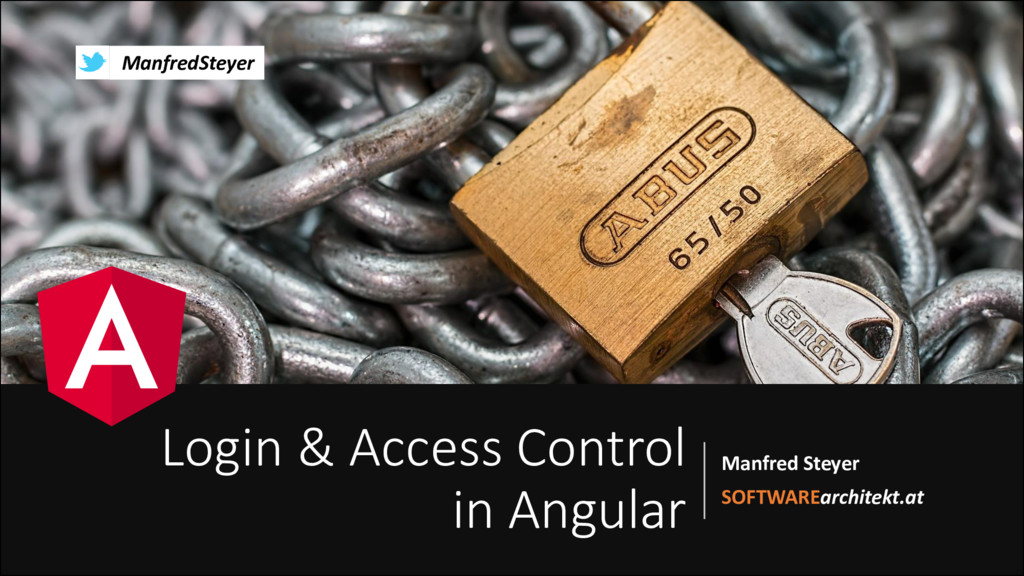 Login and Access Control with Angular