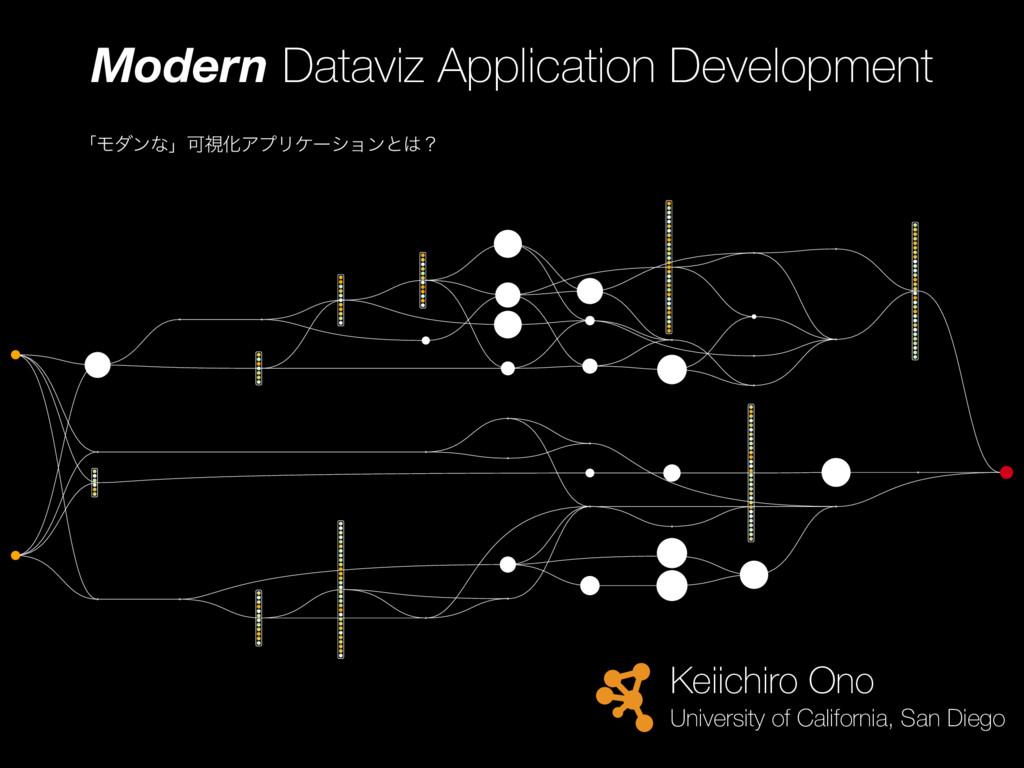 「モダンな」可視化アプリケーション開発とはどのようなものか?