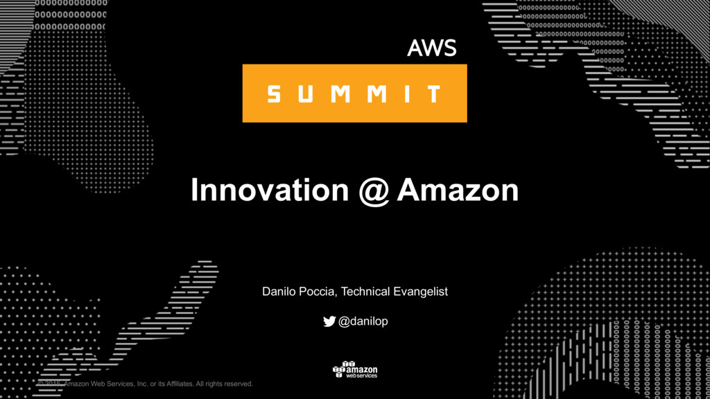 Innovation @ Amazon
