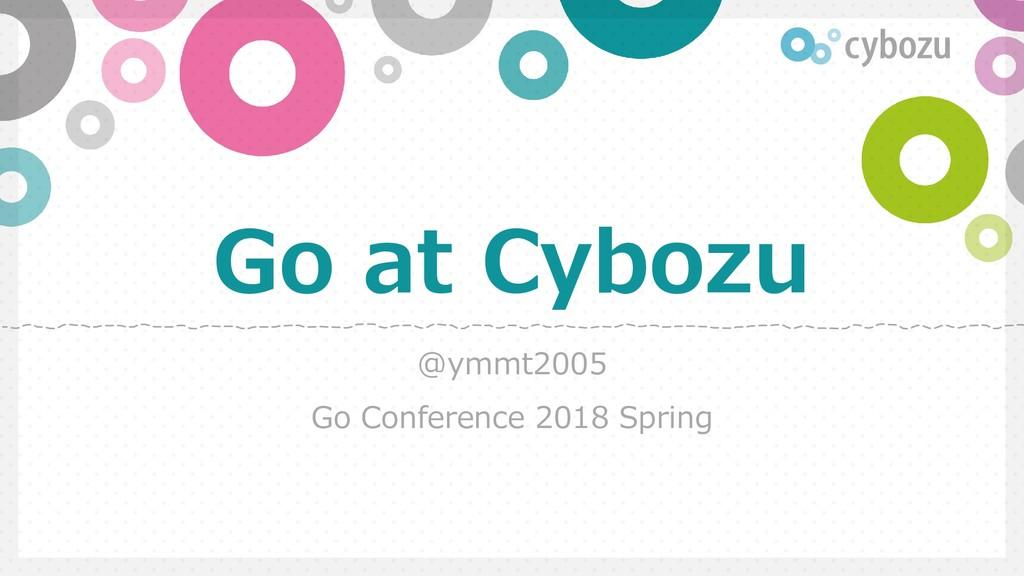 Slide Top: Go at Cybozu