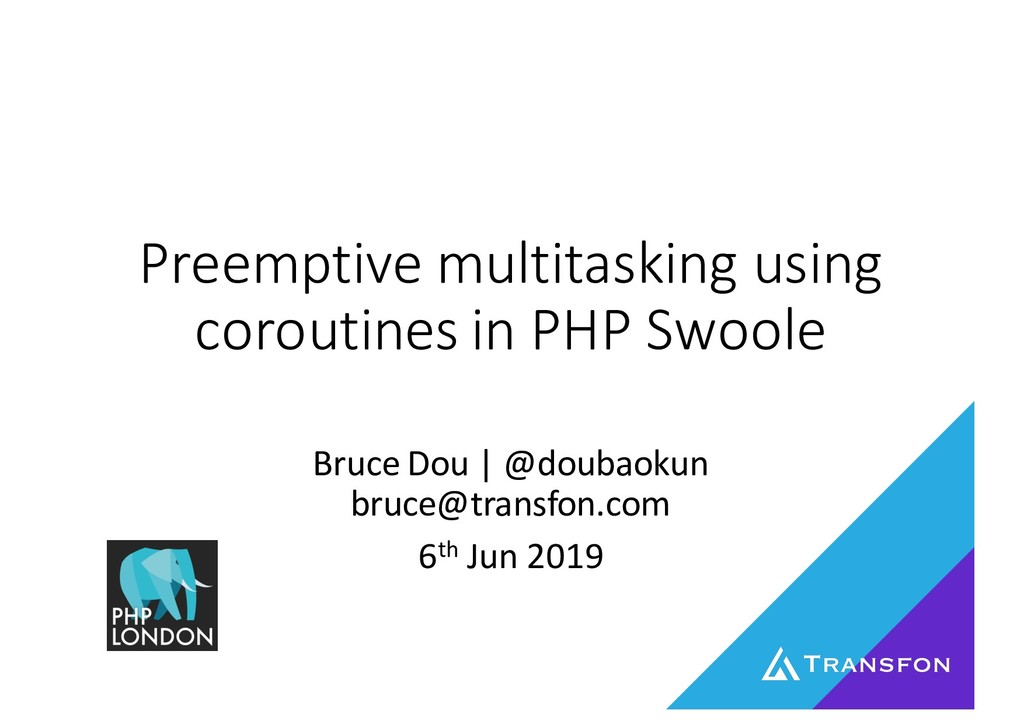 Preemptive multitasking using coroutines in PHP Swoole