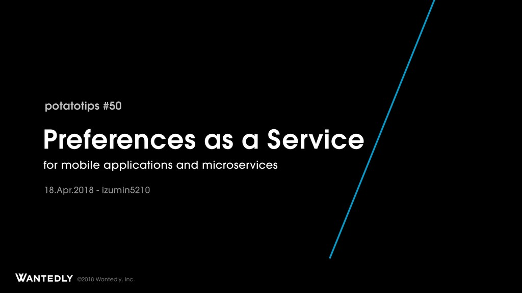 Preferences as a Service - for mobile apps and microservices