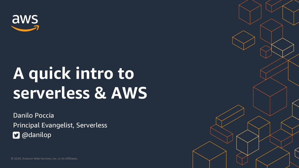 A quick intro to serverless & AWS