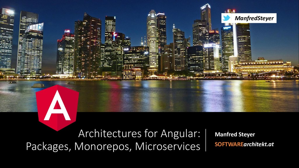 Architectures for Angular: Packages, Monorepos, Microservices