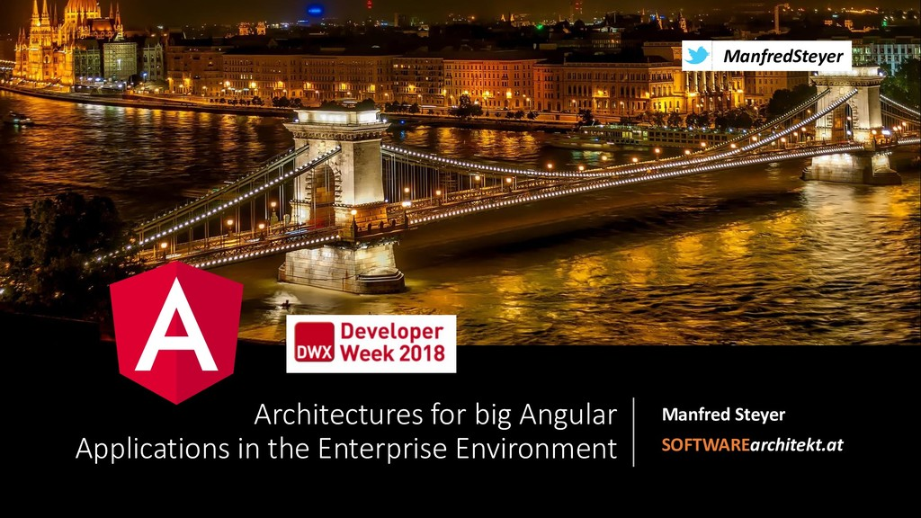 Architectures for big Angular Applications in the Enterprise Environment