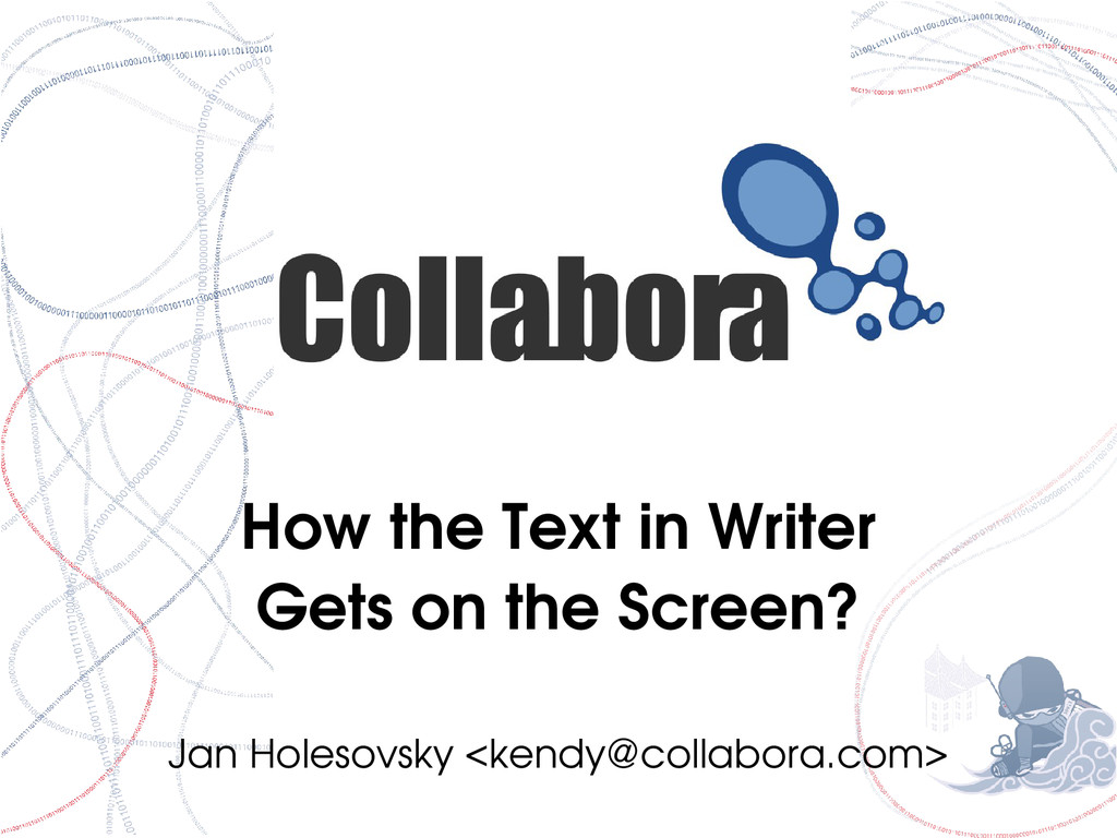 How the Text in Writer Gets on the Screen