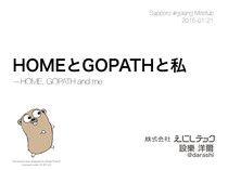 HOME, GOPATH and me