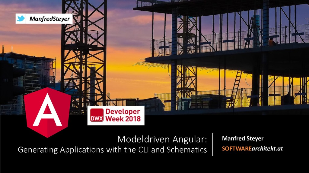 Model Driven Angular: Generating Applications with the CLI and Schematics