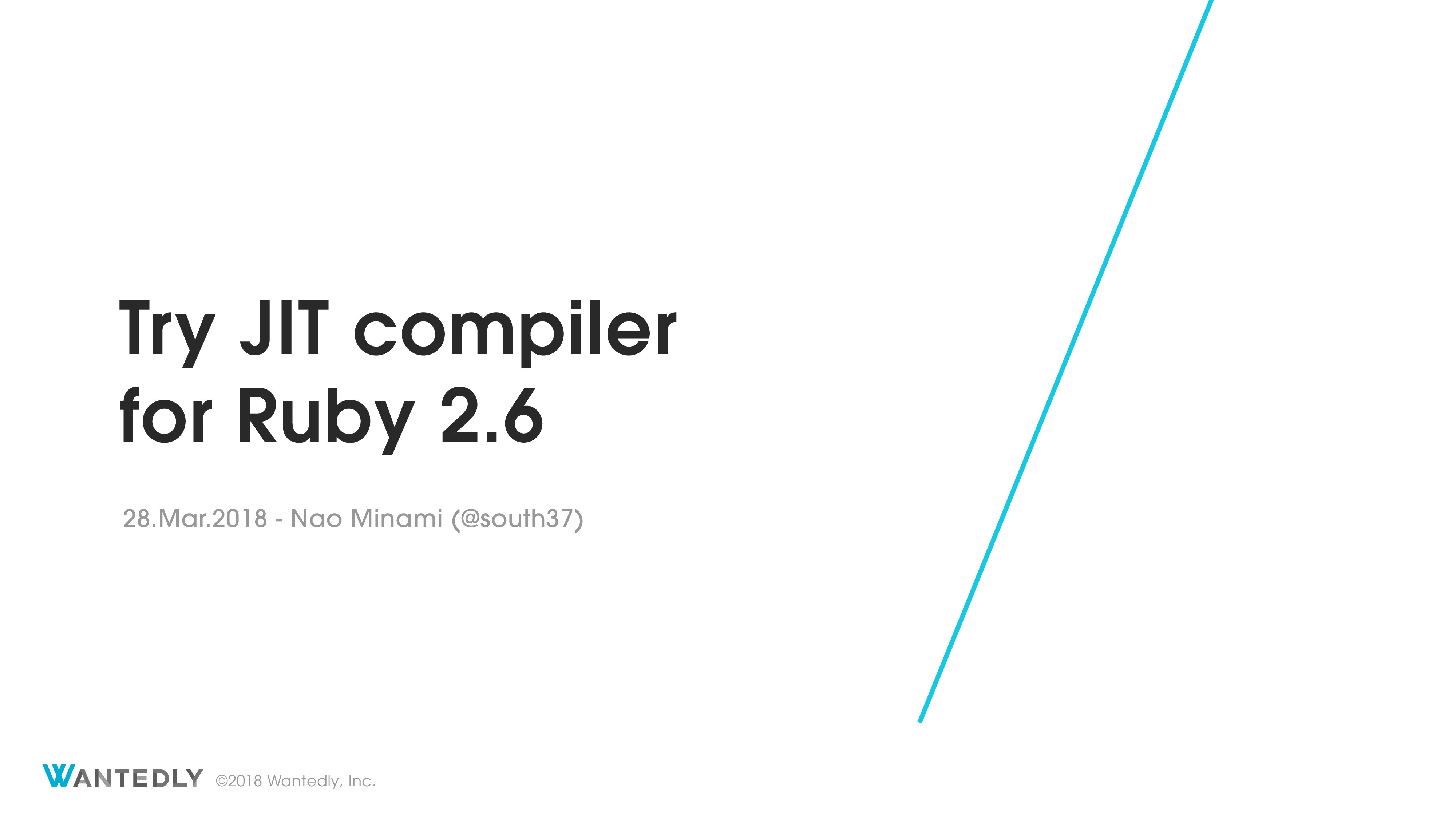 Try JIT compiler  for Ruby 2.6
