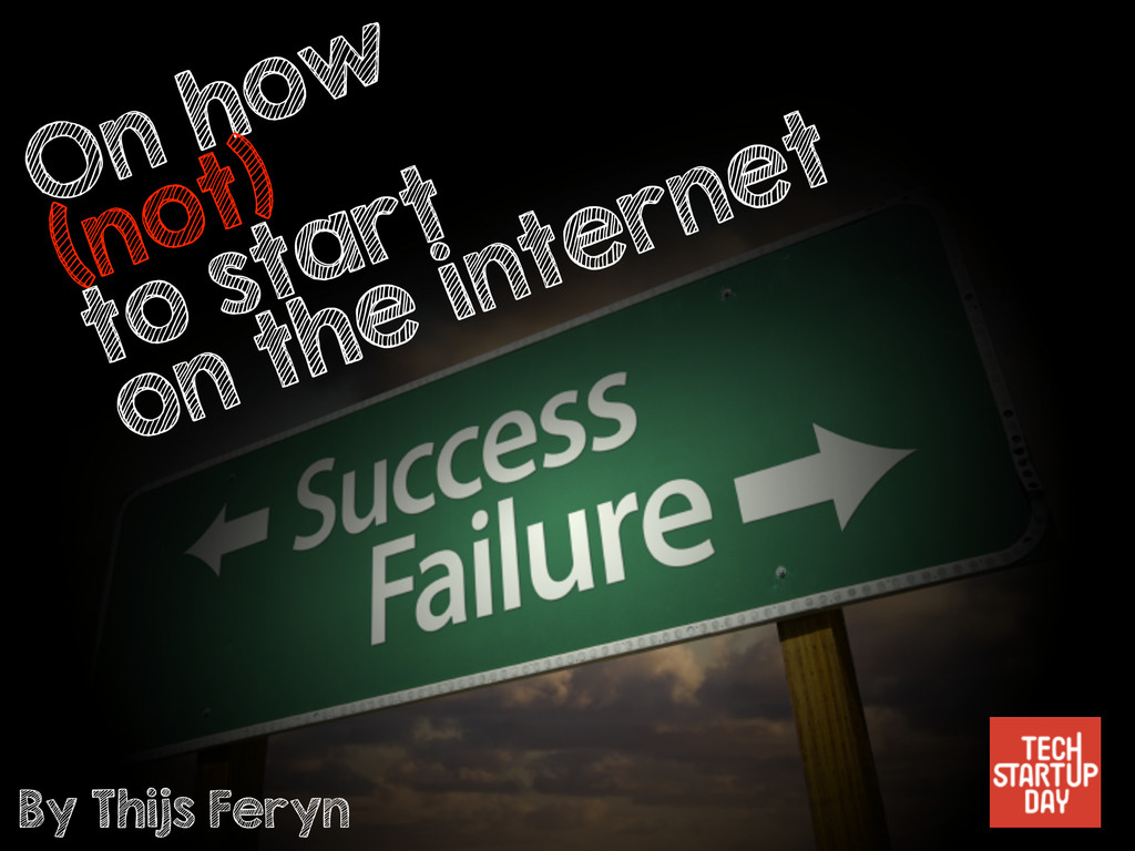 On how (not) to start on the internet