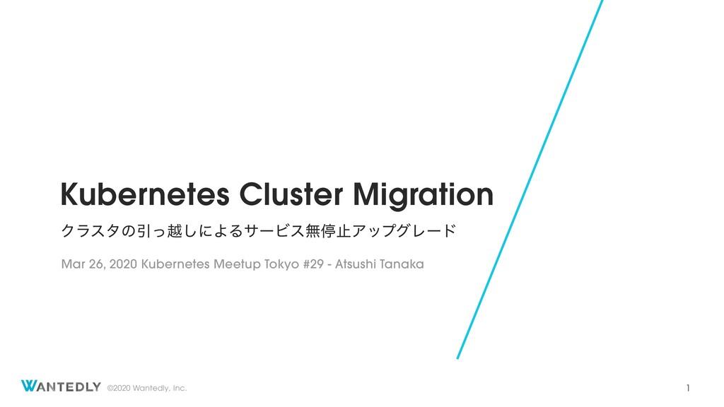 Kubernetes Cluster Migration