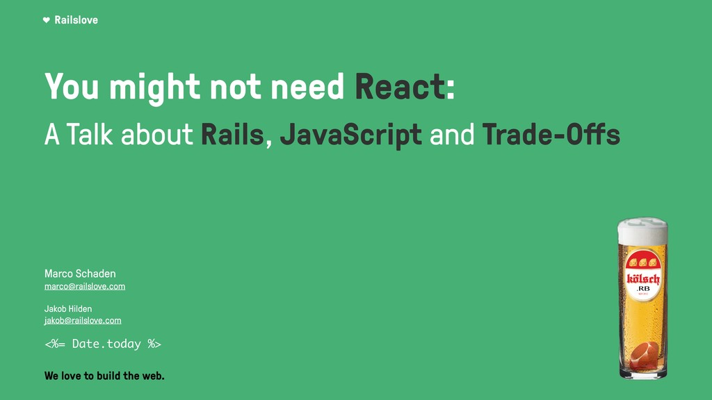 You might not need React