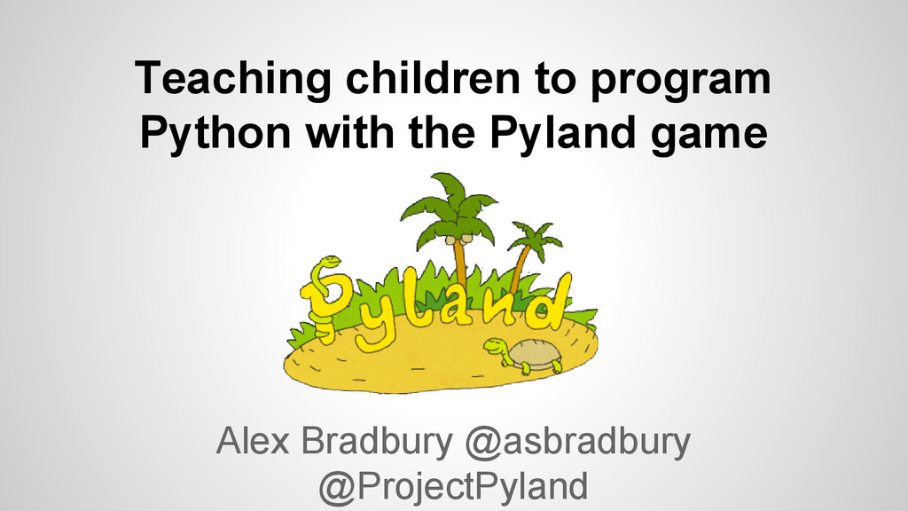 Teaching children to program Python with the Pyland game