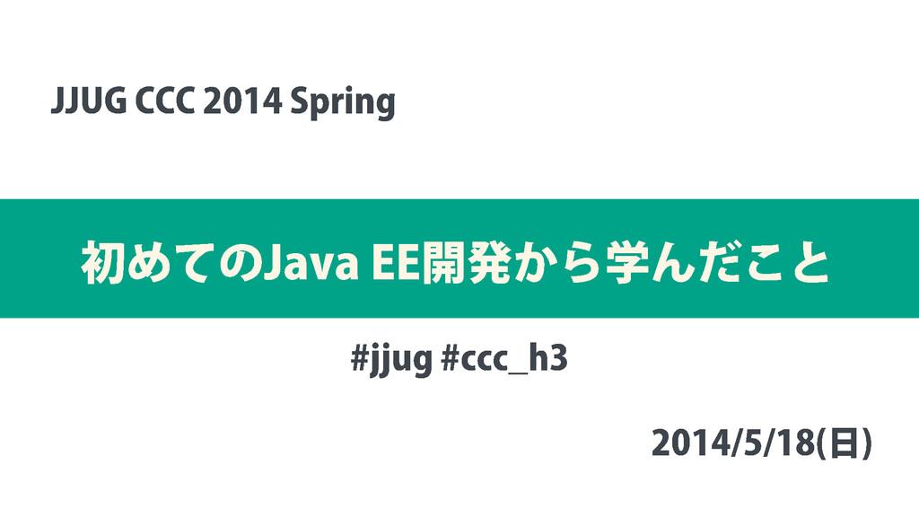 初めての Java EE 開発から学んだこと JJUG CCC 2014 Spring