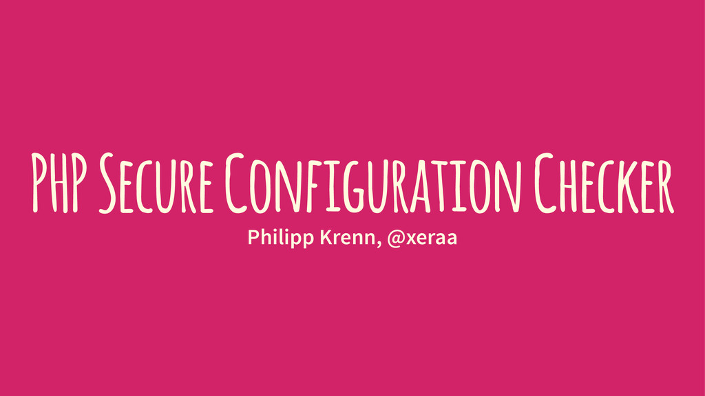 PHP secure configuration checker