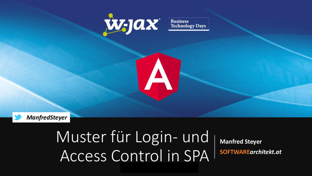 Muster für Log-in und Access Control in modernen Single Page Applications mit OAuth 2 und OpenID Connect