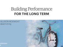 Preview of Building Performance for the Long Term