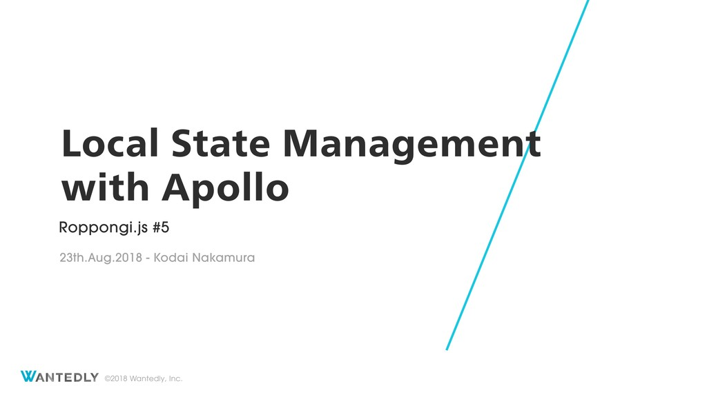 Local State Management with Apollo